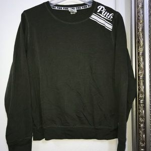Women's olive green PINK Victoria Secret crewneck
